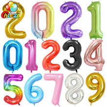 Birthday-Balloons Figures Globos Helium-Number Shower Wedding-Party-Decorations Large
