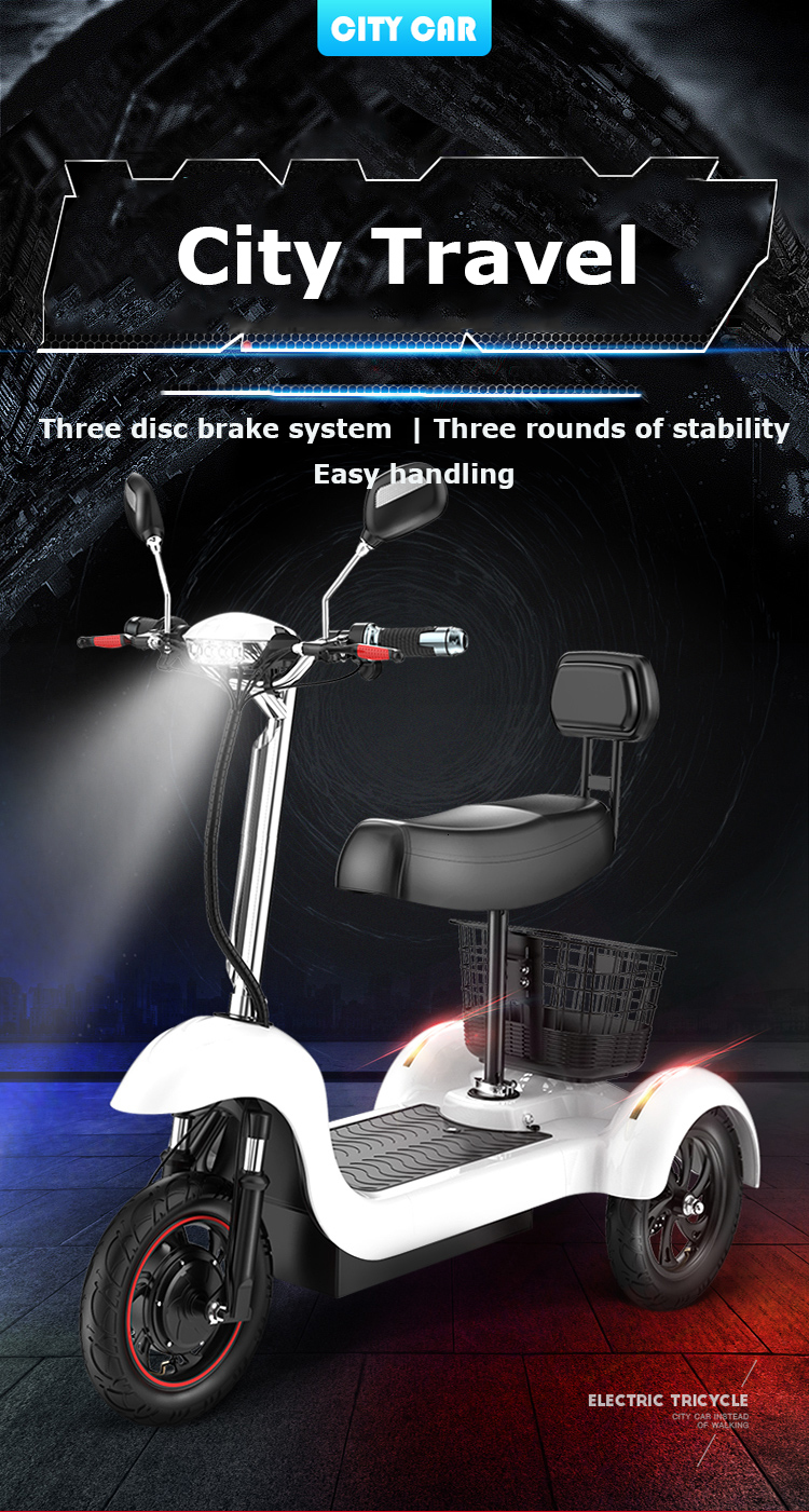 Daibot Electric Tricycle Bike 3 Wheels Electric Scooters Single Motor 500W 48V WhiteBlack Electric Scooter With Seat Adults  (13)