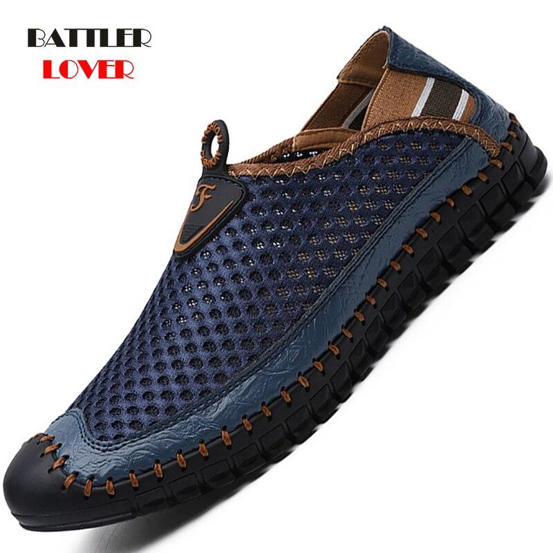 Men Casual Shoes Sneakers Fashion Light Breathable Summer Sandals Outdoor Beach Vacation Mesh Shoes Zapatos De Hombre Mens Shoes