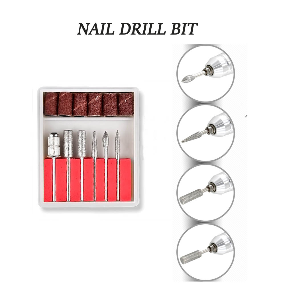 35000/20000 RPM 20/12W Electric Nail Drill Manicure Machine Pedicure Nail Accessoires Tool Nail File Drill with 6 Nail Drill Bit