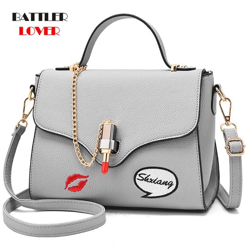 Women Handbag Leather Women Shoulder Bag Small Doctor Crossbody Handbag Embroideried Lipstick Chain Designer Casual Womens Bags