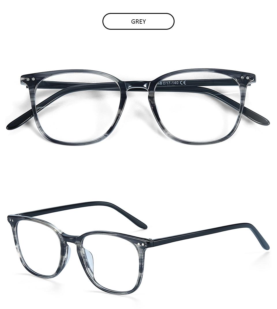 ZENOTTIC Transparent Glasses Frame Men Prescription Glasses Lenses Acetate Glasses Man Frames Optical Myopia Eyeglasses (5)