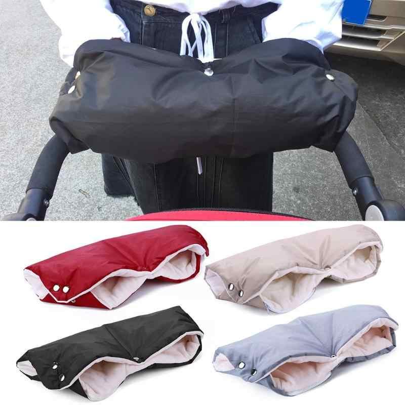 Baby Pram Stroller Winter Windproof Warm Gloves Stroller Pushchair Mittens Muff