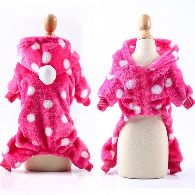 pink dot dog jumpsuit