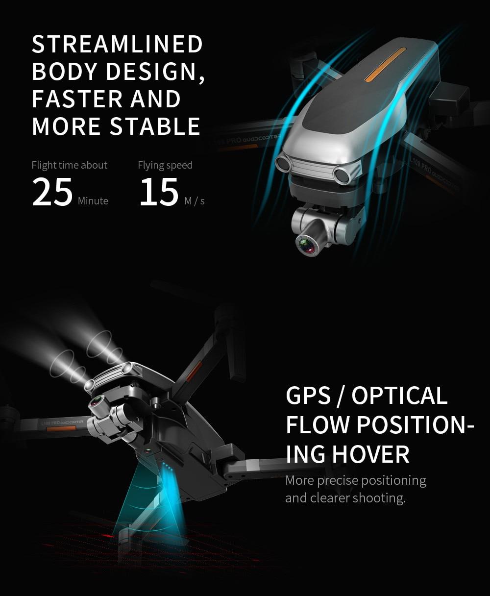 Advertisement - L109PRO GPS Drone 4K Quadcopter HD ESC Camera Brushless 5G WiFi FPV HD ESC Camera Brushless Helicopter Long Flight Time