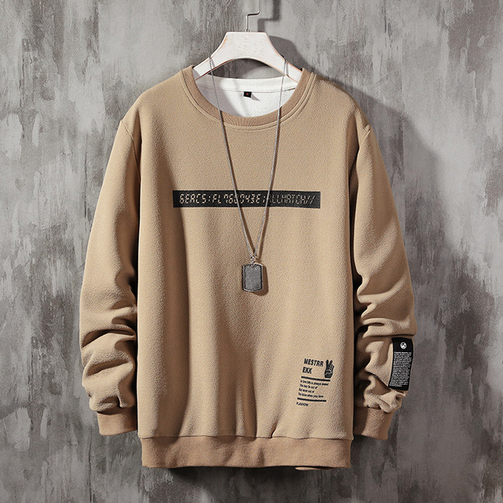 Male Sweatshirt Hoodie Men Streetwear Long-Sleeves Patchwork Casual Fashion O-Neck Top-Sudadera title=