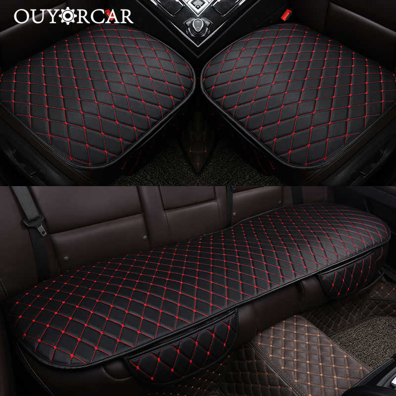 Universal PU Leather Car Seat Covers Set Seat Protector Interior Styling H1
