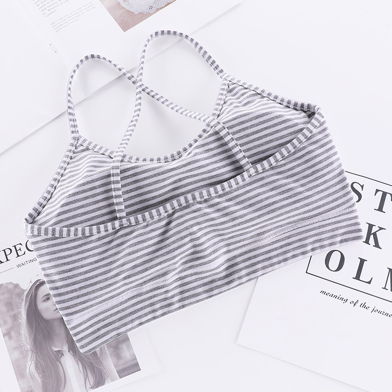 New Cross Strap Wrapped Chest Vest Women/'s Underwear Colored Cotton Belt Chest Pad Tubeless Bra Without Cotton