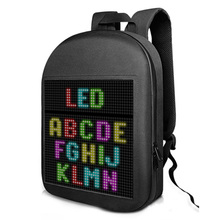 Backpack Mochilas Light-Bag Led-Display-Screen Outdoor Women Wireless Control Dynamic
