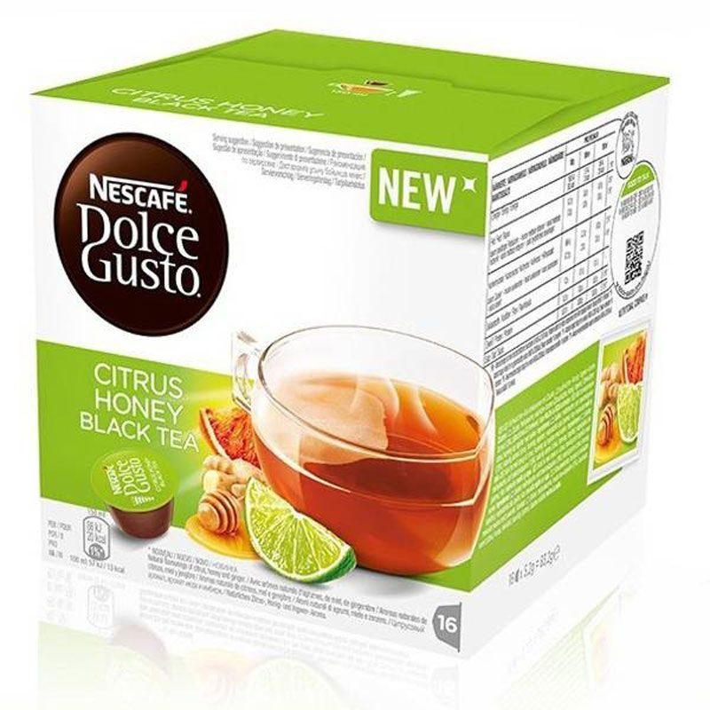Цитрусовый медовый черный чай, 16 капсул nescaffee dolcee GUSTO