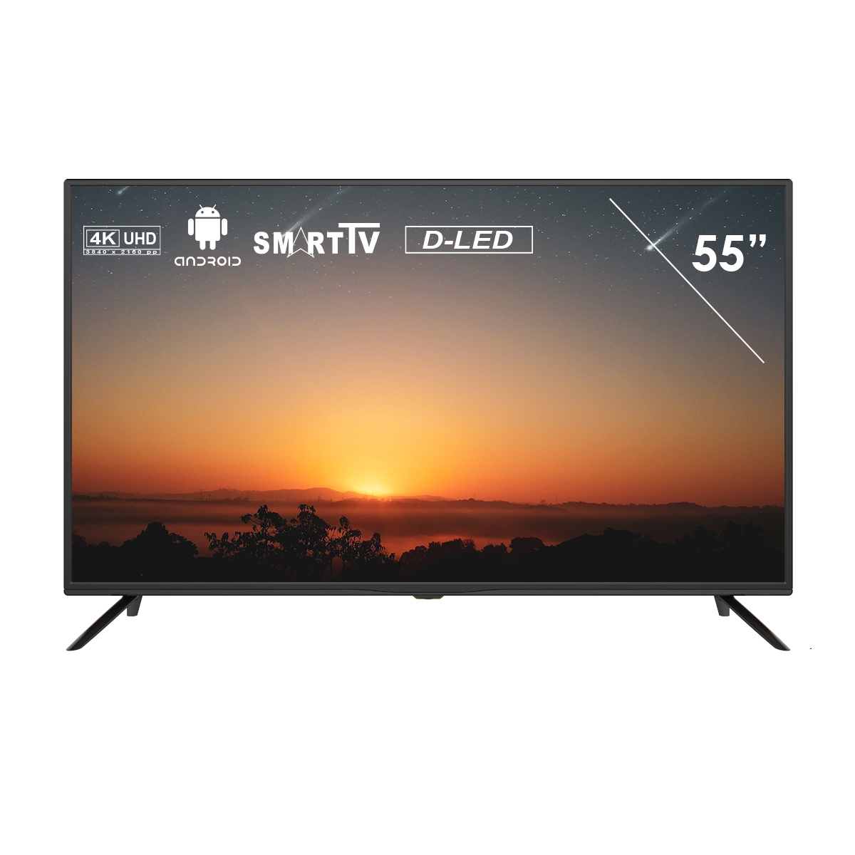 55 inch Smart Tech by BSL TV SMT5519NUSA22 Smart TV Android DBVT2-S2-C CI +, UHD 4K LED 3840x2160pp