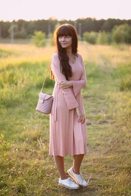 Чудесное трикотажное платье EZSSKJ - инструкция