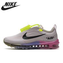 Air-Cushion Running-Shoes Air-Max 97 Off-White-X-Nike Breathable Men's/women's AJ4585-600