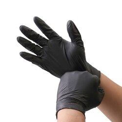 Нитриловые перчатки черные 6 шт./лот класс еды водонепроницаемые без аллергии одноразовые рабочие защитные перчатки нитриловые перчатки Ме...