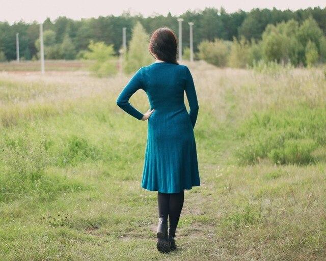 Трикотажное платье EZSSKJ - характеристики