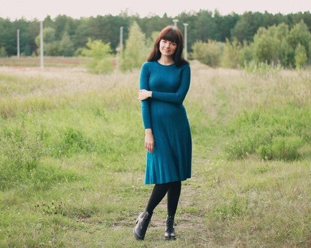 Трикотажное платье EZSSKJ - купить