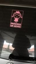 signo 19x20 Cm Cool Lindo Bebé Niña Princesa a bordo vinilo autoadhesivo con dibujos animados