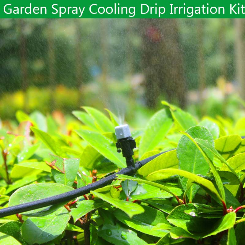 5M-50M Automatic Garden Watering System Kits Garden Irrigation Watering Kits Micro Drip Mist Spray Cooling System title=