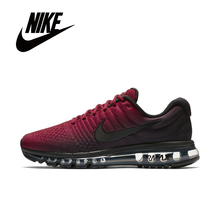Running-Shoes Sneakers Black Air-Max Original Nike Light Shockproof Low for Men Cozy