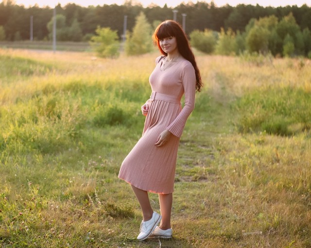 Чудесное трикотажное платье EZSSKJ - характеристики