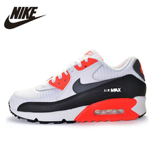 Sports-Shoes Nike White Dark-Blue Hot-Sale Air-Max-90 Mens Original Athletic Outdoor