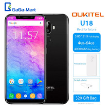 OUKITEL U18 Face ID 5.85-inch Notch Screen 4G Fingerprint Mobile Phone 4GB RAM 64GB ROM Android 7.0 MTK6750T Octacore smartphone(China)