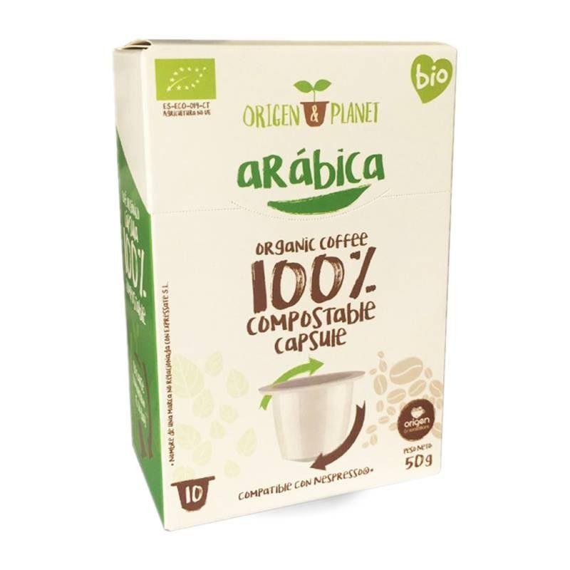 Органический кофе Арабика, 10 cas compostable происхождения совместимый Nespresso