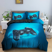 Bed-Sets Gamer Comforter Decor-Game Bedroom Themed Home-Textile Gaming Boys