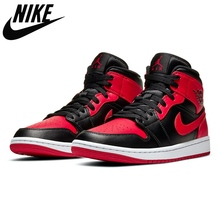 Basketball-Shoes Trainer Sports-Sneakers Mid-Retro Air-Jordan-1 Nike Women Fashion Outdoor