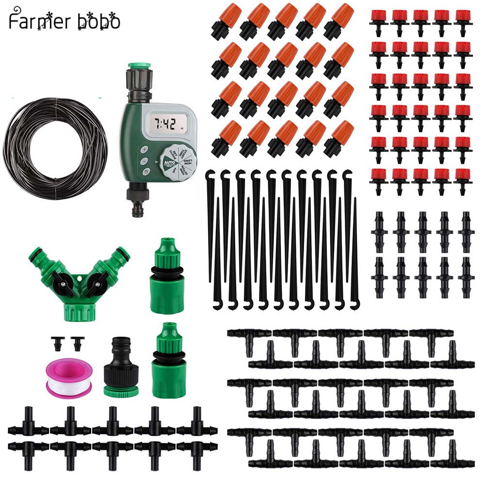 30M Drip irrigation Automatic Garden Watering System Kit Garden Irrigation Watering Micro Drip Mist Spray Cooling System title=
