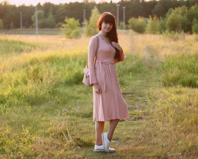 Чудесное трикотажное платье EZSSKJ - обзор