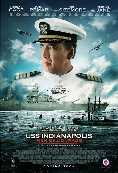 印第安纳波利斯号:勇者无惧海报