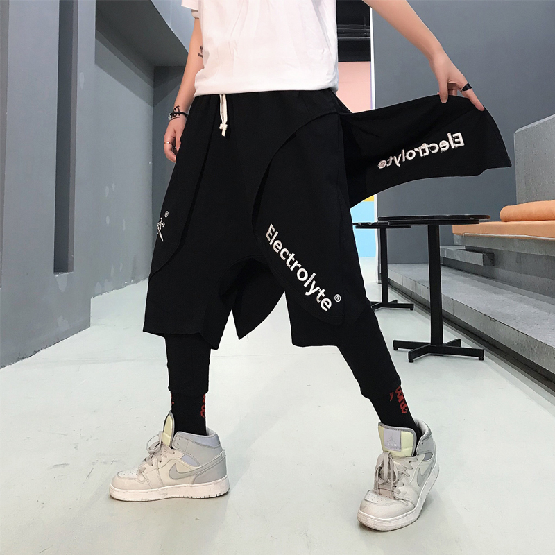 2019 Summer New Listing European And American Style Trend Couple Casual Cotton Hip Hop Plus Leggings Two-piece Shorts M-XL Best