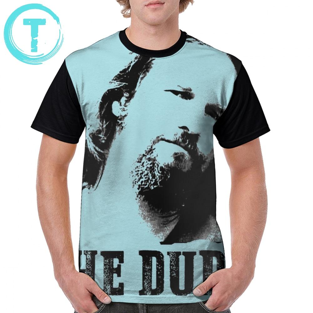 The Big Lebowski le mec respecte vintage tee-shirt homme en coton noir Tee Top
