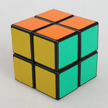 Dull Polish 2 Layers Cube Puzzle Toy Magic Cube 2x2x2 Profissional Match Cube Toy Children Kids Educational Gift Toy Biginner(China)