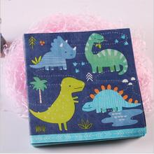 20pcs Dinosaurs Napkins Tissue Paper 100% Virgin Wood Tissue for Kids Birthday Party Decoration(China)