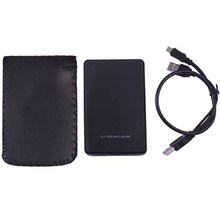 Black USB 2.0 HDD Enclosure SSD Case for 2.5 Inch External SATA Hard Disk Drive