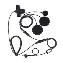 New XQF Professional Motorcycle Helmet PTT Headset Earpiece for Ham Radio for ICOM F3 F4 F10 F20 Cobra Radio