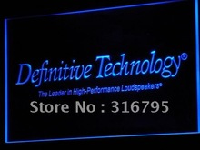 k036 Definitive Technology Loudspeakers LED Neon Signs Wholesale Dropshipping On/ Off Switch 7 colors DHL