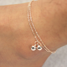 Fashion Basic Style Double Layer Small Bell Anklets Foot Decorative Chain Charm Jewelry Gift Drop Shipping