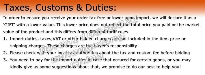Taxes, Customs & Duties