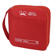 UXCELL Red Oxford Fabric 32 Discs Cd Vcd Dvd Holder Wallet Rectangle Storage Bag