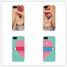 Girls Arm in Arm Best Friend BFF Couple cover case for Samsung Galaxy s6 s7 edge s5 s4 s3 for iphone 5s 5 6 6s 7 plus 5c 4 4s(China)