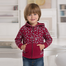 DB369 dave bella spring autumn baby boys red coat with hood infant clothes toddle coat boys kids jacket children(China)