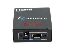 Hot sale 3D HDMI Splitter 2 Port 1x2 HDMI Switch 1 In 2 Out Switcher Support HDTV 1080P with power cable For Audio Video DVD(China)