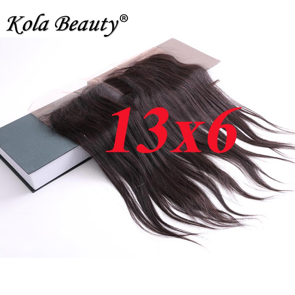 8A 100% Human Hair Peruvian Virign Hair Lace Frontal 13x6 Straight Full Lace Frontal With Baby Hair with Free Middle Part<br><br>Aliexpress