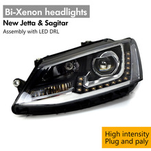 For New Jetta & GLI European Bi-Xenon High Intensity Headlights Headlamp Assembly LED DRL HID Gas Discharge Lamps Headlight