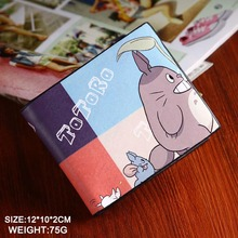 Mutilayer PU leather fold Wallet  printed with Totoro of Anime My Neighbor Totoro Type B