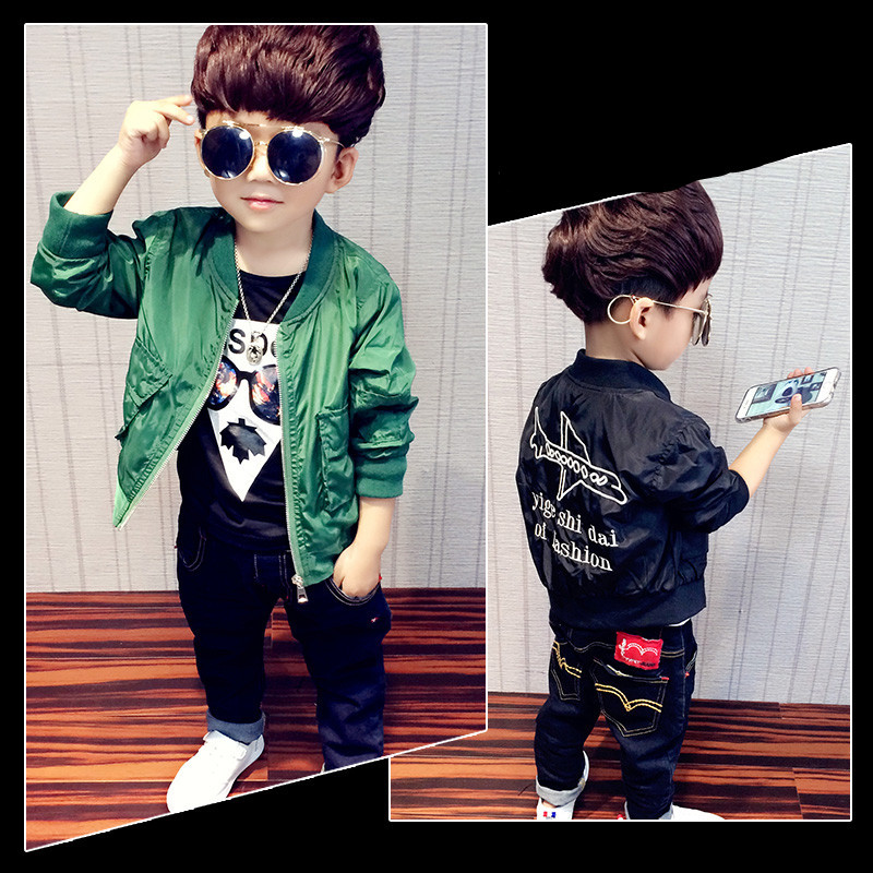 2017 New Aircraft Embroidered Jacket Coat, Autumn &amp; Winter Baby Boys Clothes, Fashion Popular Jacket, Kids Clothes Boys<br><br>Aliexpress
