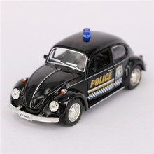 RMZ 1:36 Diecast Metal Police Cars Model, 12cm Simulation Pull Back Police Cars Toys / Brinquedos, Gifts Toys For Children
